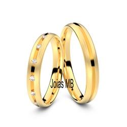 4197 - Alianças de Ouro Anatômica Manaus 6mm - Joias MB
