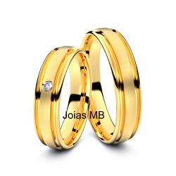 4195 - Alianças 5mm de Ouro Anatômica Osasco - Joias MB