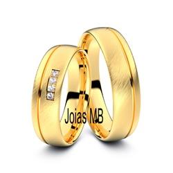 4107 - Alianças de Ouro Anatômica Sorocaba - Joias MB