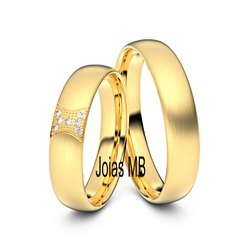 5819 - Alianças de Ouro DF 3mm - Joias MB