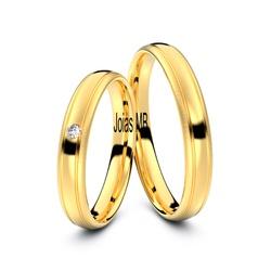4205 - Alianças 3,5mm de Ouro Rio Branco - Joias MB