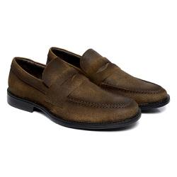 Sapato Masculino Loafer - 9400 STONADA HAVANA TOR - Kauany Calçados