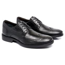 Sapato Masculino Derby - Toro 9200 - Preto - Kauany Calçados