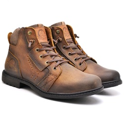 Coturno Masculino em Couro - VANCOUVER 8700 TAM - Kauany Calçados