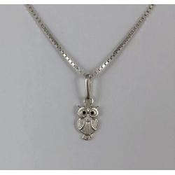 Pingente Mini Coruja em Prata 925