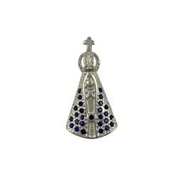 Pingente Nossa Senhora com Zircônias em Prata 925