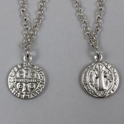 Pulseira com Medalhas de São Bento em Prata 925