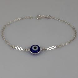 Pulseira com Olho Grego em Prata 925