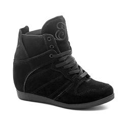 Tênis Sneaker LandFeet Cris Piza 02 Preto - LANDFEET