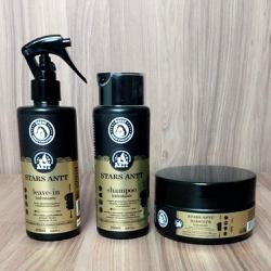 Kit Stars ANTT Brene Horse Leave-In - Shampoo - Mascara Cabelos Escuro
