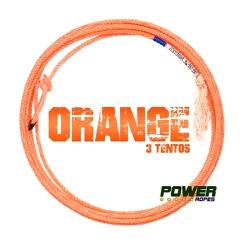 Corda Power Ropes Orange 3 Tentos MS31 Cabeça para Laço em Dupla