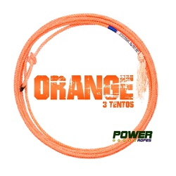 Corda Power Ropes Orange 3 Tentos HM35 Pé para Laço em Dupla