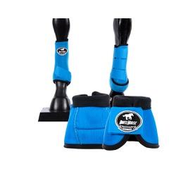 Kit Dianteiro Cloche e Caneleiras Azul Turquesa Boots Horse