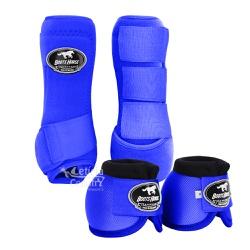 Kit Dianteiro Cloche e Caneleiras Azul Royal Boots... - LETÍCIA COUNTRY IMPORT'S