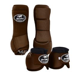 Kit Dianteiro Cloche e Caneleiras Marrom Boots Hor... - LETÍCIA COUNTRY IMPORT'S