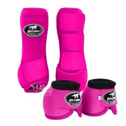 Kit Dianteiro Cloche e Caneleiras Pink Boots Horse... - LETÍCIA COUNTRY IMPORT'S