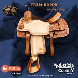 Sela de Laço Team Roping Profissional Pro Horse 52... - LETÍCIA COUNTRY IMPORT'S