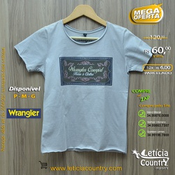 T Shirt Wrangler Feminina