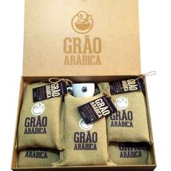 Kit com 5 Pacotes de Café Grão Arábica - Torrado e... - LOJACAFENOBRASIL