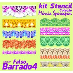 Kit Stencil Coleção Márcia Spassapan | Falso Barr... - Loja da Márcia Spassapan | Tudo para Artesanato
