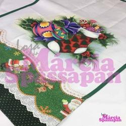 Pano de Copa Meia de Natal - PCMN - Loja da Márcia Spassapan | Tudo para Artesanato