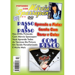 DVD Pintando Com Marcia Spassapan Edição Nº19 - Ga... - Loja da Márcia Spassapan | Tudo para Artesanato