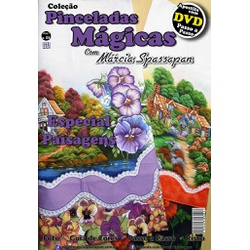 DVD DUPLO Coleção Pinceladas Mágicas Edição 3 com ... - Loja da Márcia Spassapan | Tudo para Artesanato