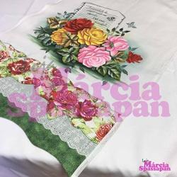 Pano de Copa Rosas Coloridas - PCRC - Loja da Márcia Spassapan | Tudo para Artesanato