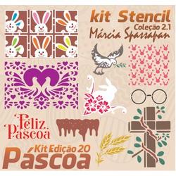 Kit Stencil Coleção Márcia Spassapan | Especial de... - Loja da Márcia Spassapan | Tudo para Artesanato