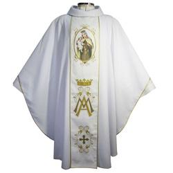 Casula Bordada Galão Nossa Senhora do Carmo - 072 - LOJA DA PARÓQUIA - OBJETOS E PARAMENTOS LITÚRGICOS