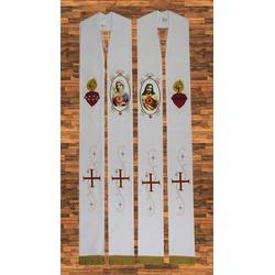 Estola Sagrado e Imaculado Coração de Jesus – Sant... - LOJA DA PARÓQUIA - OBJETOS E PARAMENTOS LITÚRGICOS