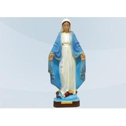Imagem de Nossa Senhora das Graças 80cm Gesso - IM... - LOJA DA PARÓQUIA - OBJETOS E PARAMENTOS LITÚRGICOS