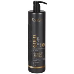 Máscara Hidratante Gold Brush Duetto 1L - Duetto Super - Cosméticos Profissionais