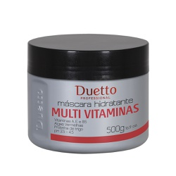 Máscara Hidratante Multi Vitaminas Duetto 500g - Duetto Super - Cosméticos Profissionais