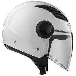CAPACETE LS2 AIRFLOW MONOCOLOR WHITE - 0352 - HELMET MOTO STORE