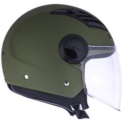 CAPACETE LS2 AIRFLOW MONOCOLOR MATT MIL GREEN - 03... - HELMET MOTO STORE