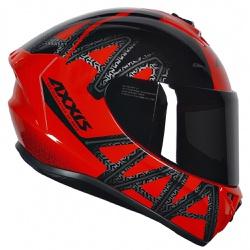 CAPACETE AXXIS DRAKEN DEKERS GLOSS RED/BLACK - 039 - HELMET MOTO STORE