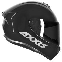 CAPACETE AXXIS DRAKEN SOLID GLOSS BLACK - 0396 - HELMET MOTO STORE