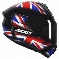 CAPACETE AXXIS DRAKEN UK GLOSS BLACK/RED/BLUE - 03... - HELMET MOTO STORE