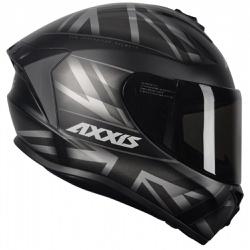 CAPACETE AXXIS DRAKEN UK MATT BLACK/GREY - 0399 - HELMET MOTO STORE