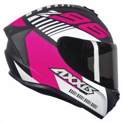 CAPACETE AXXIS DRAKEN Z96 MATT BLACK PINK WHITE - ... - HELMET MOTO STORE