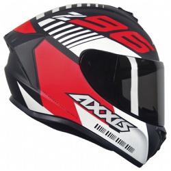 CAPACETE AXXIS DRAKEN Z96 MATT BLACK RED - 0401 - HELMET MOTO STORE