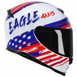CAPACETE AXXIS EAGLE INDEPENDENCE GLOSS WHITE - 04... - HELMET MOTO STORE