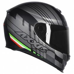CAPACETE AXXIS EAGLE ITALY MATT BLACK - 0417 - HELMET MOTO STORE