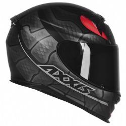 CAPACETE EAGLE SNAKE MATT BLACK-GREY - 0427 - HELMET MOTO STORE