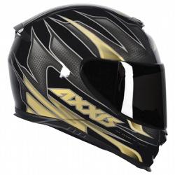 CAPACETE AXXIS SPEED GLOSS BLACK GOLD - 0429 - HELMET MOTO STORE
