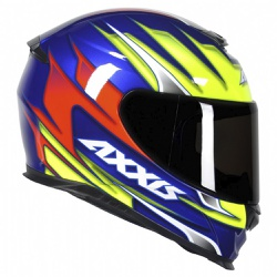 CAPACETE AXXIS SPEED GLOSS BLUE YELLOW - 0430 - HELMET MOTO STORE