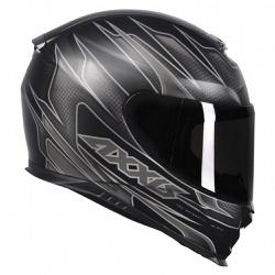 CAPACETE AXXIS SPEED MATT BLACK GREY - 0431 - HELMET MOTO STORE