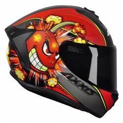 CAPACETE AXXIS DRAKEN BOMB MATT BLACK RED - 0438 - HELMET MOTO STORE