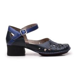 Sapato New Kelly Em Couro Blue J.Gean - CK0025-CK... - J.Gean